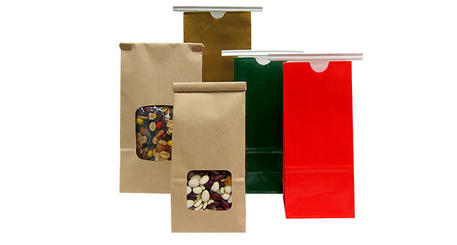 Paper Bags, Pla-Lined Paper Bags, Pla-Lined Paper Bags With Window