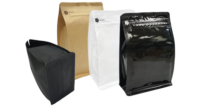 Foil Square Bottom Gusseted Bags with E-zip