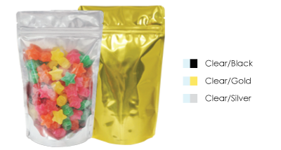 Clear/Foil Stand Up Pouches