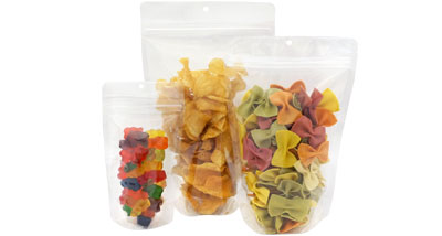 Crystal Clear Snack Pack Stand Up Pouches