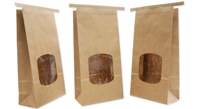 100% Recycled Paper Bags with Window
