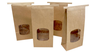 PLA-Lined Paper Bags with Window